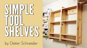 diy french cleat tool shelves