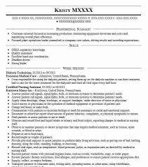 Dialysis Technician Resume Sample Technician Resumes LiveCareer Extraordinary Dialysis Technician Resume Pdf