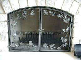 bronze single modern ideas curved fireplace screen panel pewter