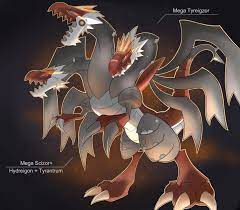 Mega Tyreigzor by Visoris on DeviantArt | Pokemon pictures, Pokemon fusion  art, Pokemon eevee