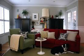 red sofa decor red sofa blue rug