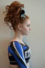 how to do your cheer hair and makeup teased hair and smokey eye makeup