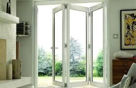 folding patio doors. Burman White Finished Folding Patio Doors
