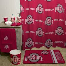 ncaa ohio state university decorative bath collection shower