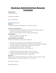 Sample Resume Of A Business Administration Graduate New Resume