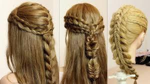 Long Braid Designs 3 Easy Hairstyles For Long Hair Tutorial Quick Braids