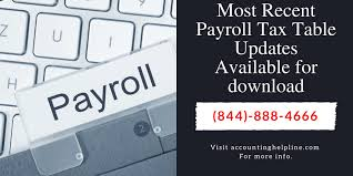 Payroll Download Most Recent Payroll Tax Table Updates Available For Download