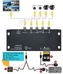 Sd Card Video Recording Time Chart 4 Channel Mini Dvr Quad Video Processor With Ir Remote