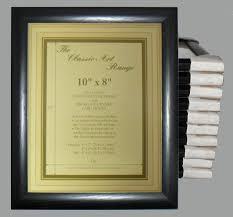 ten 10x8 inch dome black photo frames
