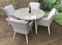 danielle 4 chair round table garden dining set tap to expand