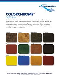 Umber Color Chart Dpf Color Charts Desert Polymer Flooring Inc