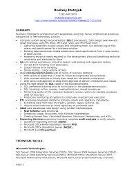 sql developer resume samples