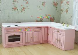 dollhouse furniture 1 12 scale. 1 12 scale dollhouse furniture cupboard cabinet pink wooden kitchen for bjd doll toys range