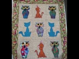 How to Make a Quilt - Owl and Pussycat Applique Quilt Pattern ... & How to Make a Quilt - Owl and Pussycat Applique Quilt Pattern Video -  YouTube Adamdwight.com