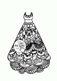 Dress Coloring Pages Wedding Dress Beautiful Coloring Page For Girls