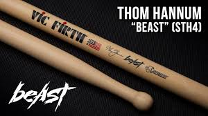 Vic Firth Corpsmaster Signature Snare Drumstick Thom Hannum Beast