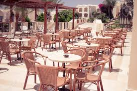 outdoor cafe table and chairs. Cafeteria, Outdoor Cafe Tables And Chairs, Restaurant Coffee Open Air Stock Photo Table Chairs
