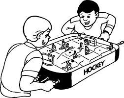 Small Picture Boys Play Hockey Board Coloring Page Wecoloringpage