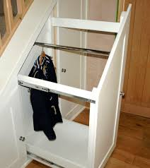 Pantry Under Stairs Decoration Innovative Sliding Storage Under Stairs With White