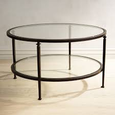 lincoln tempered glass top round coffee table pier 1 imports tables canada 3117