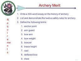 write a word essay on the history of archery ppt video write a 300 word essay on the history of archery