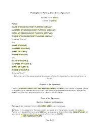 Event Planning Services Agreement Wedding Event Planning Flyer Template Design Download