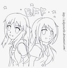 Bff Anime Colouring Pages Bff Best Friends Drawing Anime Free