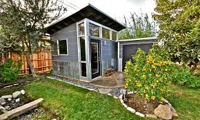 backyard shed for storage or living