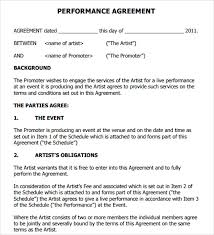12 Artist Contract Templates Pages Word Docs