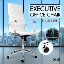 replica office chairs. eames replica high back office chair executive computer pu leather chairs