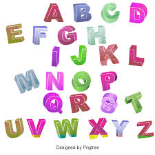 color 3d stereoscopic letter letters wordart vector color vector png and psd