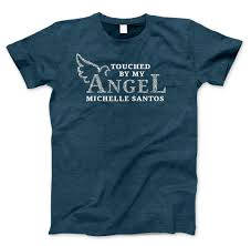 T Shirt Design For Burial Touched By My Angel In Loving Memory T Shirt Ladies T