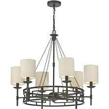 6 light chandelier meval inspired 6 light chandelier with linen shades heritage 6 light chandelier home