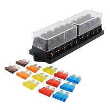 online buy whole automobile fuse box from automobile 10 port way car automobile ato apr fuse block output box holder terminal w