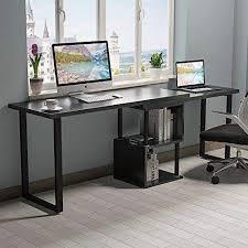 home office black desk. Tribesigns Modern L-Shaped Desk, 360° Free Rotating Corner Computer Desk  Writing Home Office Black Desk