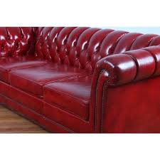 red leather tufted chesterfield sofa of perfect red leather tufted sofa