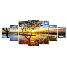 startonight huge canvas wall art sunrise on the lake home decor dual view surprise on modern framed wall pictures with amazon startonight huge canvas wall art sunrise on the lake