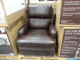 Synergy Jacob Leather Swivel Glider Recliner Costco Manly Man