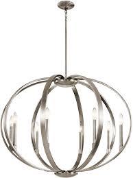 fabulous modern classic chandelier kichler 43872clp elata modern classic pewter chandelier lighting