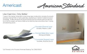 american standard 2392 202 021 bone princeton 60 americast soaking bathtub with left hand drain lifetime warranty faucet com