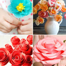 How To Make Rose Flower With Tissue Paper How To Make Tissue Paper Roses Tissue Paper Streamer Roses