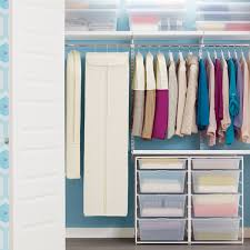 wardrobe hanging storage. Suit Bags Dress Natural Cotton Hanging Storage The Container Store In Wardrobe