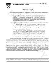 barilla spa a harvard business school rev barilla spa 2 pages barilla spa b