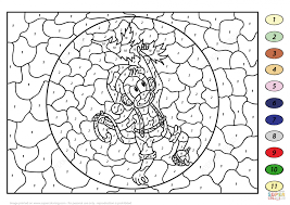 Small Picture Coloring Pages Christmas Monkey Color By Number Free Printable