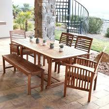 menards patio furniture 6 piece acacia wood outdoor furniture dining set for cozy backyard dining room design menards tile patio table