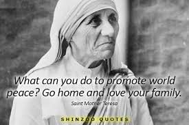 Mother Teresa Quotes On Love New Mother Teresa Quotes Love Your Family Hover Me