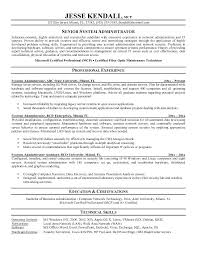 School Administrator Resume Systems Administrator Resume Examples