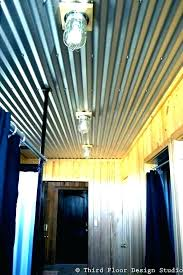 corrugated metal ceiling ideas panels sheet in garage