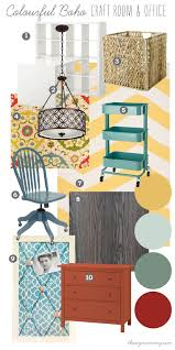 Living Room Craft Mood Board Colourful Boho Craft Room Office Our Diy House