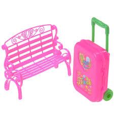 barbie doll house furniture. 1Set Chair Sofa With Luggage For Barbie Doll House Furniture Baby Girl Play Toys